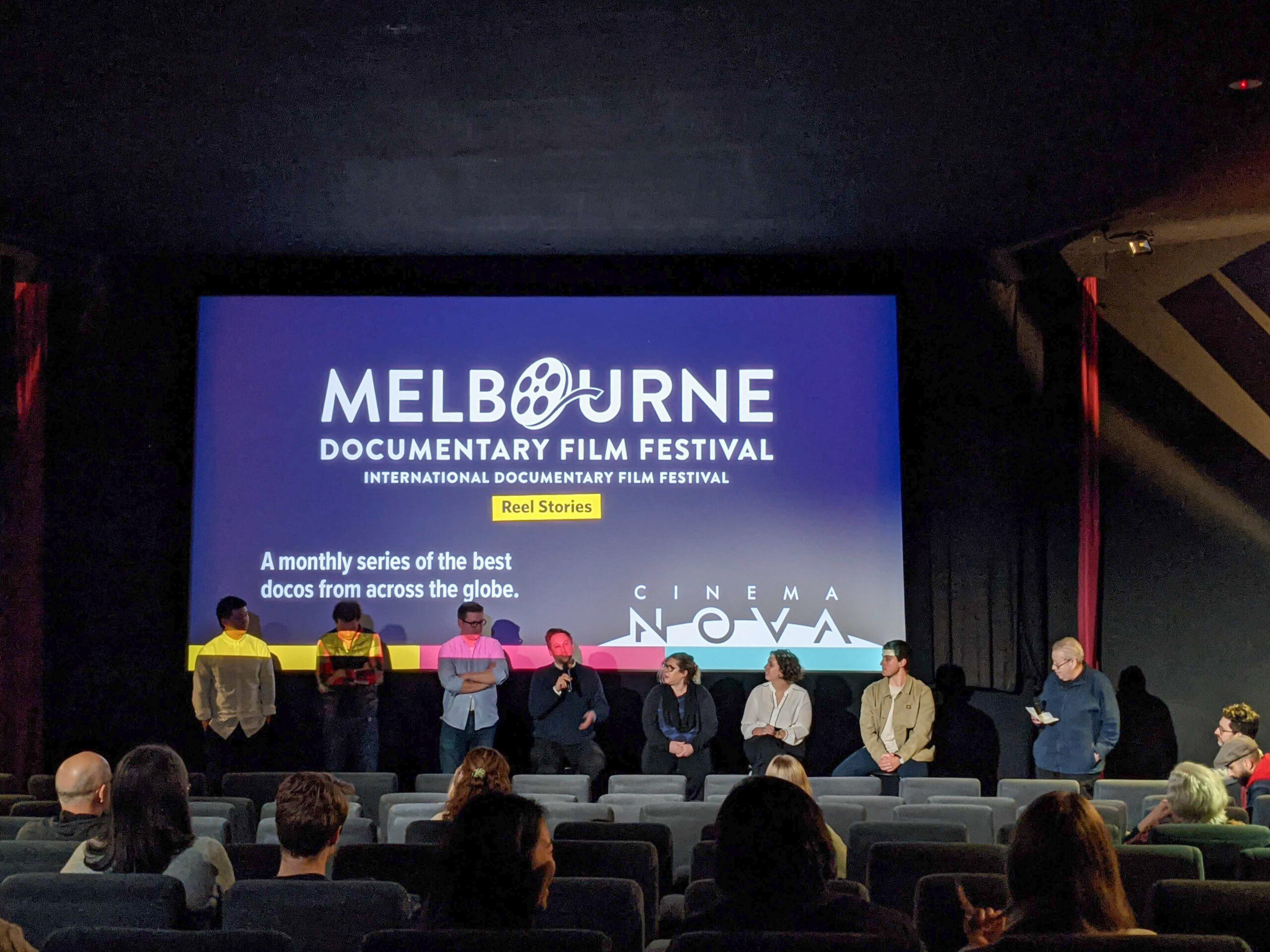 Q and A at Melbourne Documentary Film festival screening of After the Earthquake