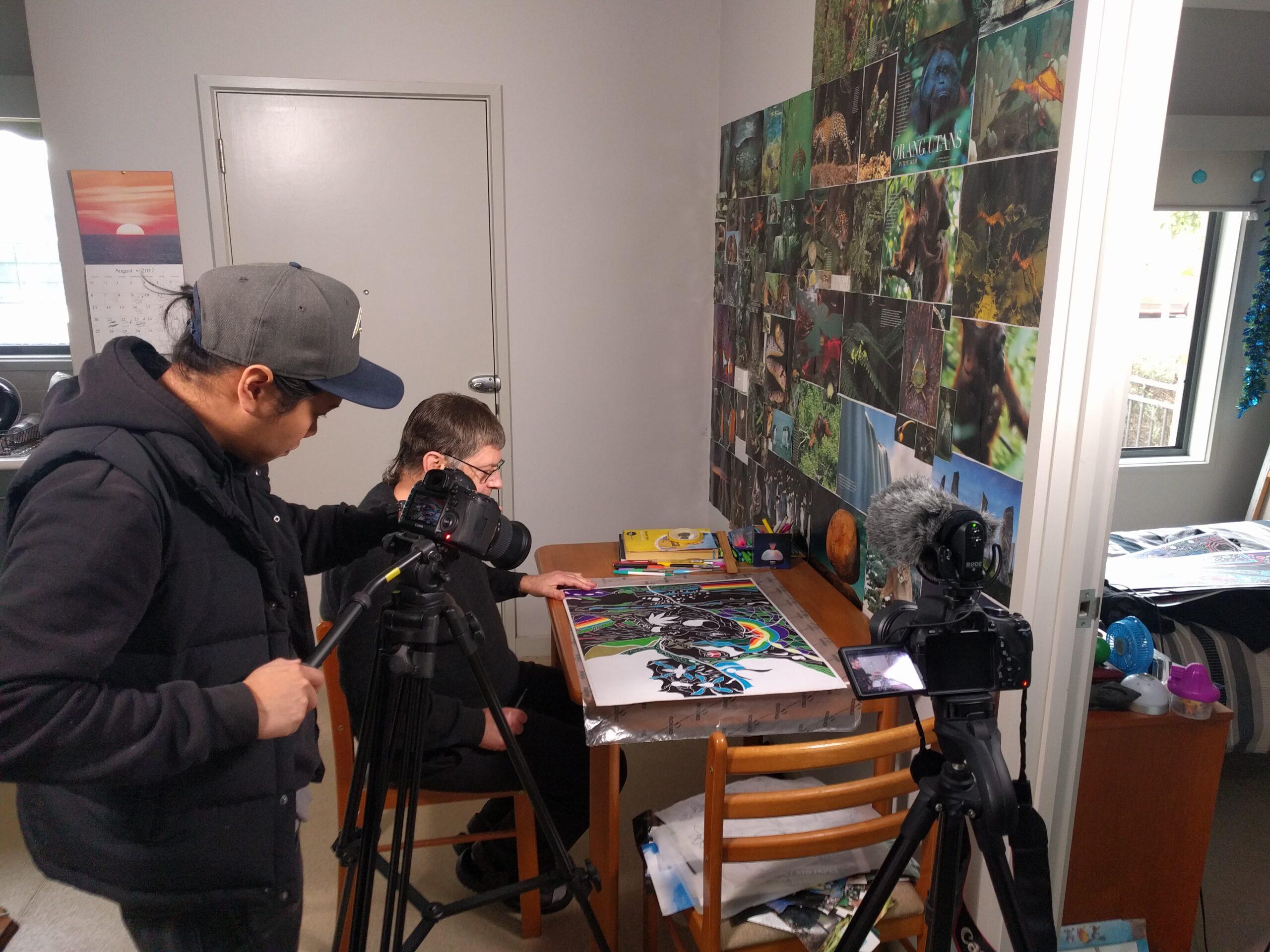 Painting My Canvas shoot. Rod Th'ng