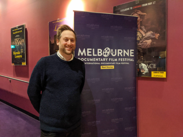 Mark Hellinger at Melbourne Documentary Film festival screening of Superheroes and Me